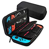 [Large Model]Carrying Case for Nintendo Switch,Leyeet 20 Game Cartridge Protective Hard Portable Travel Carry Case Fits AC Adapter Shell Pouch for Nintendo Switch Console & Accessory