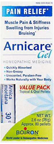 Boiron Arnicare Gel, 2.6 Ounce With Multi Dose (Blue) Tube, Homeopathic Medicine for Muscle Aches