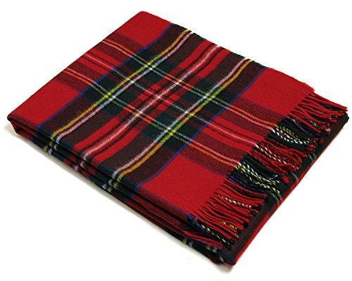 Tartan - Merino Lambswool - Royal Stewart - Throw Blanket