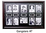 Gangster Collage Features: Capone, Luciano, Gotti & Giancana W/Facsimile Autographs Professionally Matted an Framed to a 24x36 Finished Size