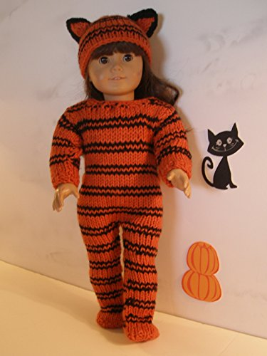 Tiger Outfit for Halloween: Doll knitting pattern -