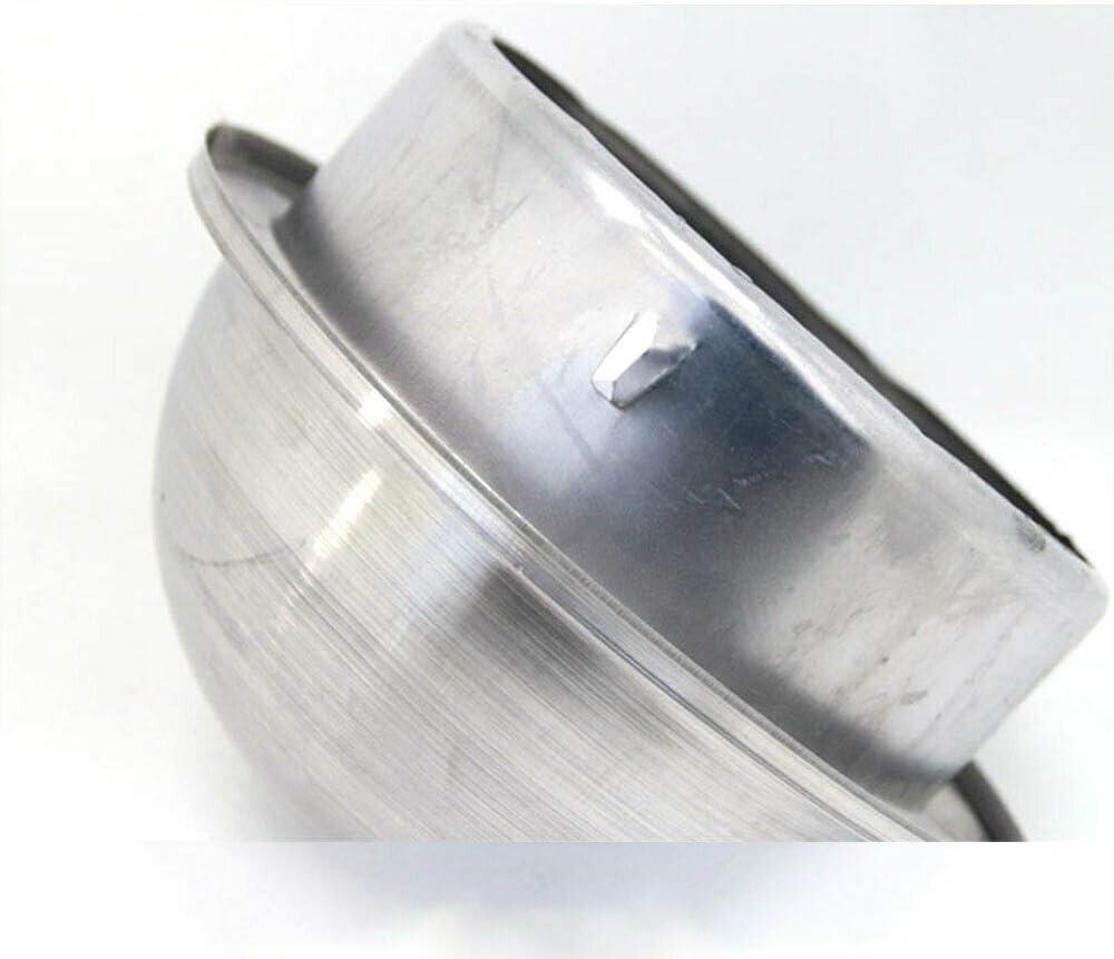 Cubiertas de rejilla de ventilaci/ón de acero inoxidable SENRISE para rejilla de ventilaci/ón de pared redonda de metal para el escape de pared exterior plateado campana de escape aire fresco