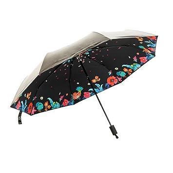 6cf13fb73 Jacshy Simple Fashion Ladies UV Protection Compact Umbrella 3-Folding  Sun/Rain dual purpose Umbrella - Black: Amazon.co.uk: Luggage