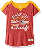 "NFL Girls 7-16 ""Tribute"" Football Tee -Red-L(14), Kansas City Chiefs"