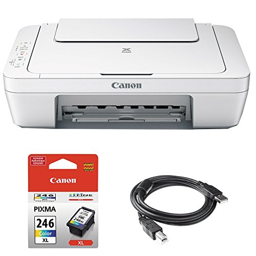 Std Ink Colour - Canon Pixma All-in-One Color Printer, Scanner, Copier (0727C042) w Color Ink Bundle Includes, Genuine Color Ink Cartridge & High Speed 6ft. USB Printer Cable
