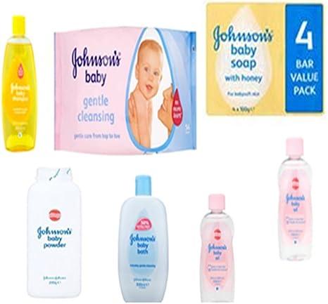 Johnson s Baby Care Set - Juego de 7 piezas incluye champú para bebé, 2 x aceite