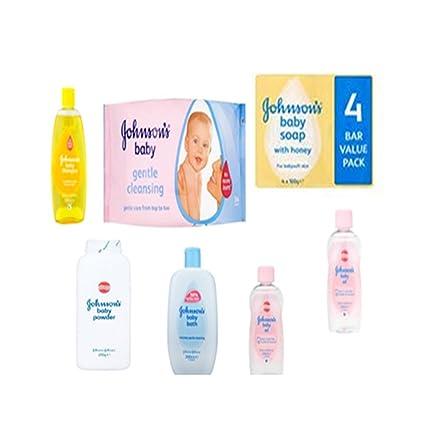 Johnson s Baby Care Set - Juego de 7 piezas incluye champú para bebé,