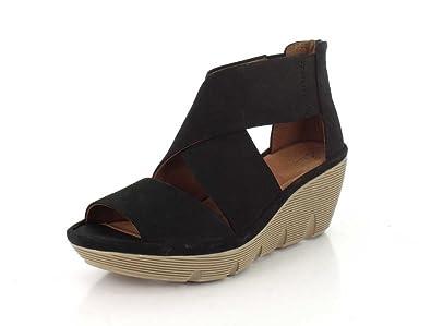 CLARKS Womens Clarene Glamor Wedge Sandal