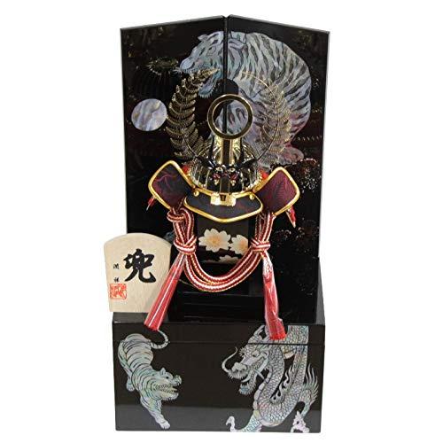 五月人形 兜 収納飾り 螺鈿〔5号〕 徳川 幅19cm [195to1106] B07NS1R7DX