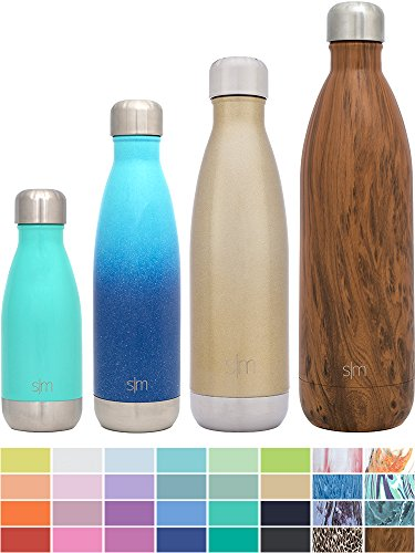 Simple Modern Stainless Steel Vacuum Insulated Double-Walled Wave Bottle, 25oz - Glimmering Gold - Shimmering Collection