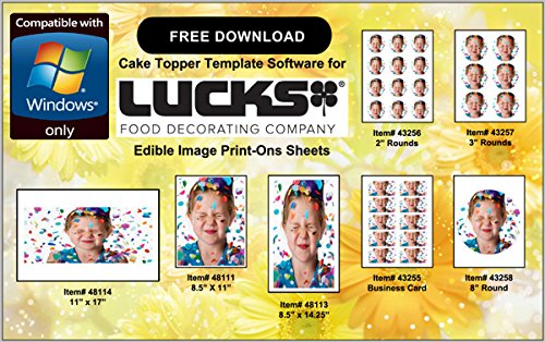 Lucks 48114 / 41103 11'' x 17'' Edible Image Print-Ons Sheets (12 sheets per pack x 2) by Lucks (Image #4)