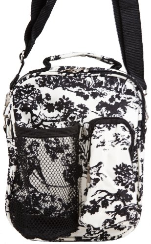 World Traveler French Toile Hipster Crossbody Daypack 7-inch (Canvas Double French Wallet)