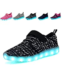 Breathable LED Light Up Shoes USB Charging Colorful Flashing Sneakers for Kids Boys Girls Toddler New Year Spring Festival Birthday Gift