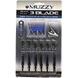 Muzzy Bowhunting Broadheads 3 Blades Trocar Tip, 75, 100 or 125 Grain, 6 Pack