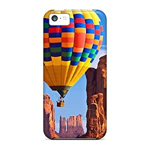 For JonathCo Iphone Protective Case, High Quality For Iphone 5c Balloon Over Canyonl Skin Case Cover