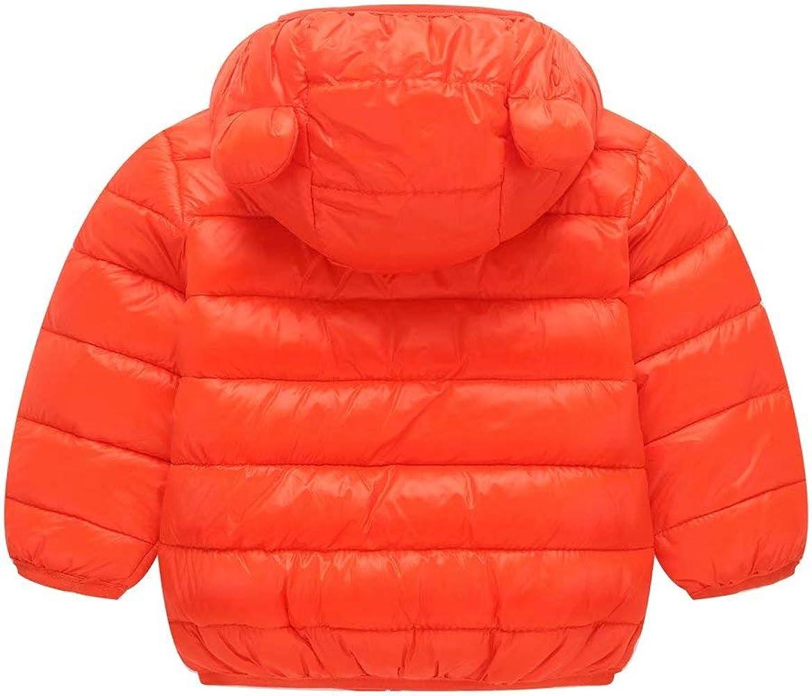 Unisex Little Boys Girls clothes Down Jacket Hoodie Coat Winter Warm Outerwear