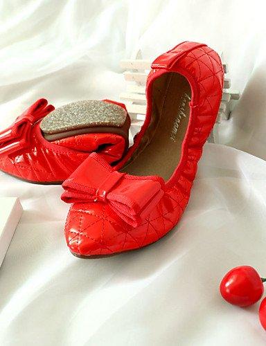 us6 Leder eu36 Mandelfarben Rot Schwarz Lässig Flacher Absatz uk4 almond PDX cn36 Mokassin Komfort Damenschuhe Ballerinas 7nwqtTvOUT