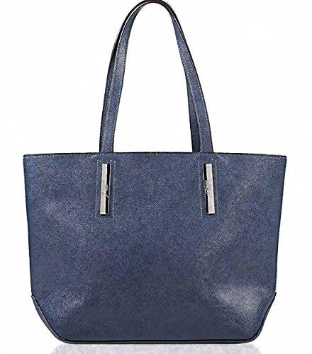 Gattinoni Roma Hilary Shopper Bag Blue
