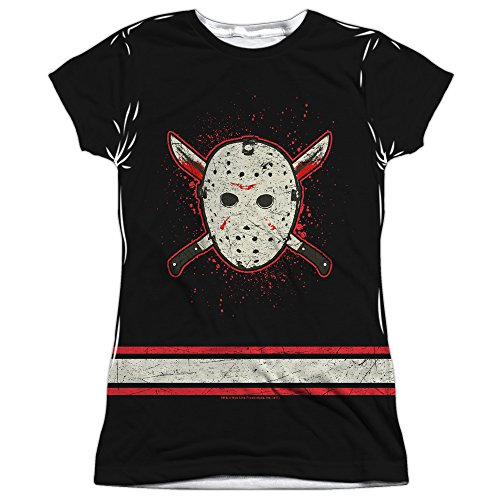Junior Fit - Friday The 13th - Jason Voorhees Costume Jersey All Over Print T-Shirt
