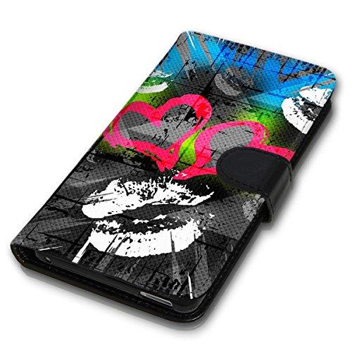 Wallet Book Style Flip Handy Tasche Case Schutz Hülle Schale Motiv Etui für Apple iPhone 6 / 6S - Design Flip MVD192