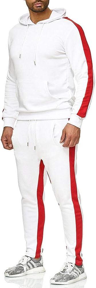 Sudaderas+Pantalones Conjuntos Forro Polar con Capucha 2 Piezas Traje de Deportiva DANCEYOU Conjunto de Pantalones de ch/ándal Joggers Ch/ándal para Hombres