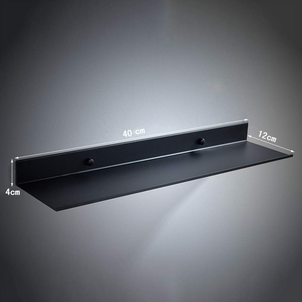 /Étag/ères de salle de bains Fixation murale /étag/ère de salle de bains Noir gain de place inox extra fort /étag/ères flottantes /étag/ère de rangement douche Douche Wangel panier de douche 40cm