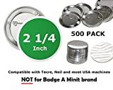 2.25 inch Round Back-Pin Buttons (500 Pack) Sets for Badge Making 2 1/4'' (56 mm)