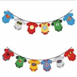 Superhero Baby Marvel Avengers Party Banner Decorations Baby Shower, Little  Man , Birthday Party,