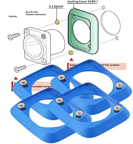 NEUTRIK D-Shape Chassis Dust & Water Resistant Connectors Blue Rubber Gasket SCDP-6 ( Pack of 4)