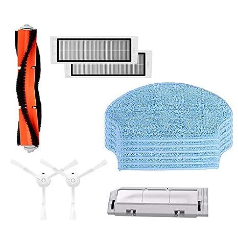 TOOGOO Accesorios De Aspiradora para Xiaomi Mi Robot 1 Limpiador 2 Piezas Filtro Hepa 2 Piezas Cepillo Lal 6 Piezas Trapos De La Fregona 1 Pieza ...