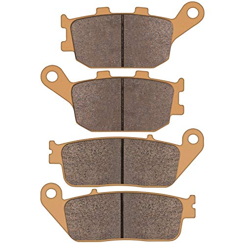 Zinger Brake Pads for Honda VT 1100 1300 VTX 1300 1995 1996 1997 1998 1999 2000 2001 2002 2003 2004 2005 2006 2007 2008 2009 2010 2011, 2 Set Sintered Front and Rear Brake Pads Replacement