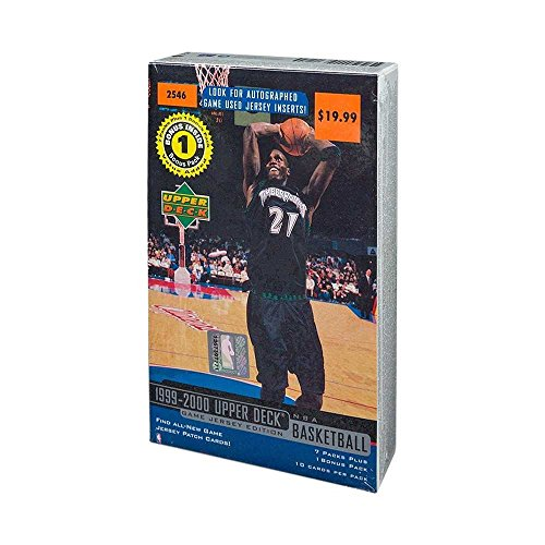 - 1999-00 Upper Deck Basketball Game Jersey Edition 8ct Retail Box