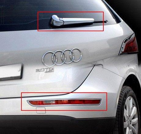 Accesorios para Audi Q5 cromo - Limpiaparabrisas + reflectores paneles Marco: Amazon.es: Coche y moto