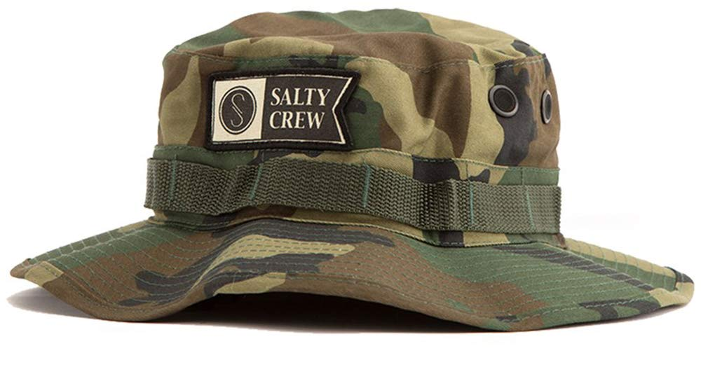 Salty Crew Men's Alpha Stamped Bucket Hat, Woodland Camo, One Size