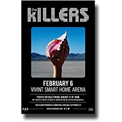 The Killers Poster - Band 11 x 17 Inch 2017 Promo for Concert on Wonderful Tour