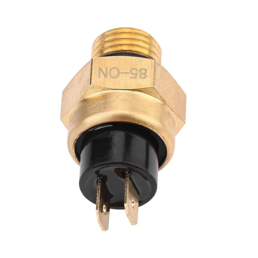 Interrupteur de Temp/érature du Ventilateur Thermostat Electrique Ventilateur de Refroidissement du Moteur Interrupteur de Capteur 2 Temps et 4 Temps