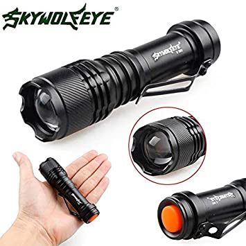 Flashlight for Camping Hiking Fishing Outdoors yongpin Super Bright 3000LM Zoomable XM-L T6 LED 18650 Mini Flashlight Focus Torch Light A