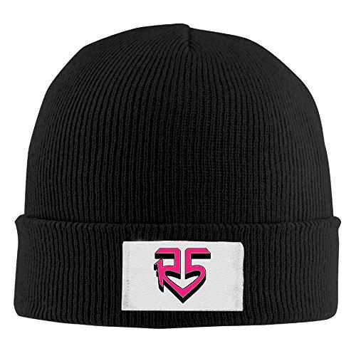 [Pop Rock Band R5 Pink Logo Louder Ross Lynch Cool Winter 2016 Hats] (Betsy Ross Hat)