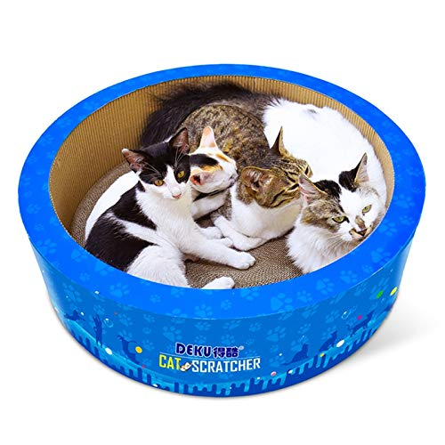 (XINGRUI Grinding Claw Toy CP-405 Barrel-Shaped Corrugated Paper Cat Scratch Board Cat Litter Claw Toy)