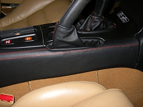 RedlineGoods Center Console Cover Compatible with Mazda RX7 1993-02. Black Alcantara-Blue Thread by RedlineGoods (Image #5)