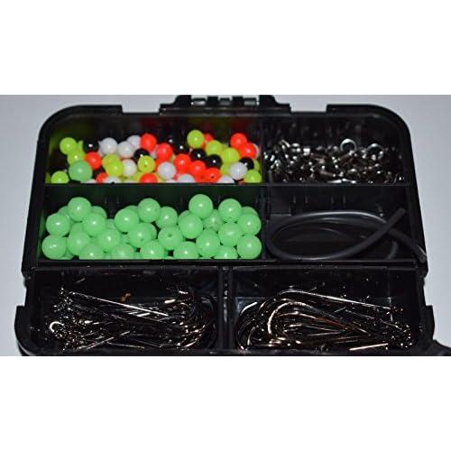 Generic Embouts S Hooksxed I en mer matériel de pêche Boîte d'embouts d'accessoires de boîte émerillons Connecteurs Crochets Pêche en mer