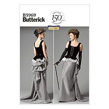 Butterick Schnittmuster 5969 – Historisches Kostüm Korsett & Rock ...