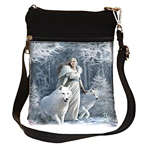 Nemesis-Now-Winter-Guardians-Anne-Stokes-Shoulder-Bag-23cm-White-PU-and-Canvas-One-Size