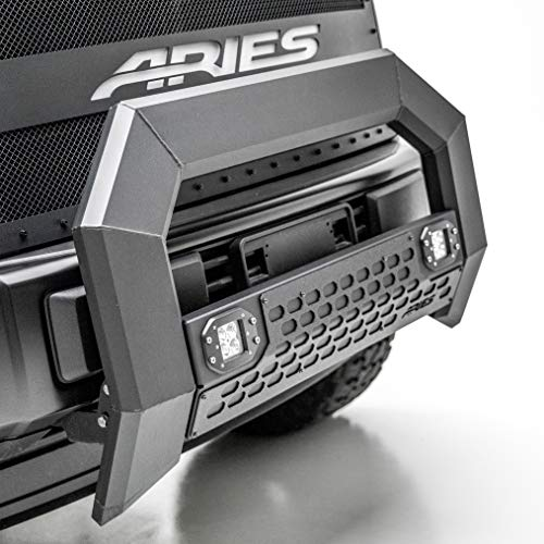 ARIES 2162100 AdvantEDGE Black Aluminum Truck Bull Bar with Lights 5-1/2