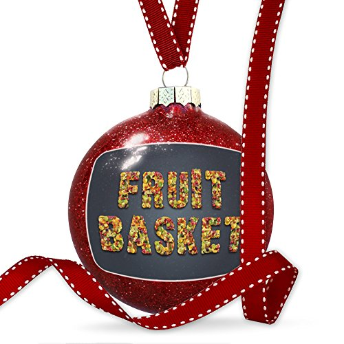 Christmas Decoration Fruit Basket Mixed Fruit Healthy Ornament