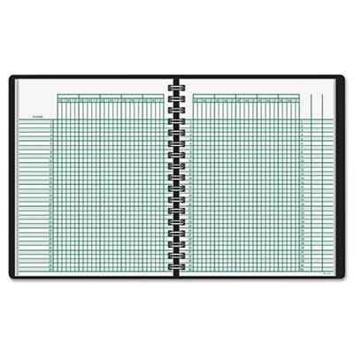 Recycled Class Record Book, 10-7/8 x 8-1/4, Black, Sold as 1 Each, 12PACK , Total 12 Each
