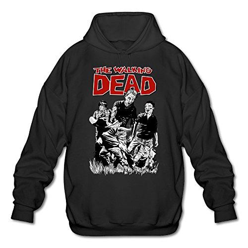 XJBD Men's Dead Walk Hoodie Black Size XXL