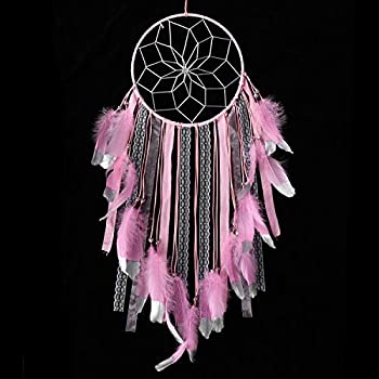 Amazon.com: INTVN Dream Catcher – Red circular hecha a mano ...