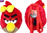 ANGRY BIRDS RED GIRL BIRD PLUSH W/ BOW BACKPACK! 14