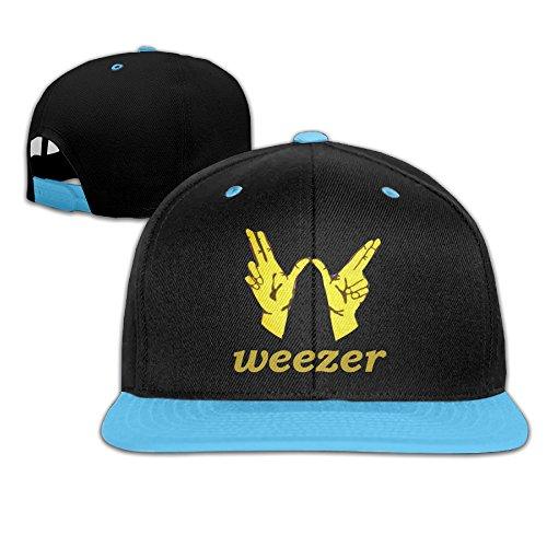 REBORN Weezer Victory Logo Kid's Adjustable Snapback Hip-hop Baseball Cap RoyalBlue